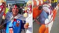 Viral Aksi Simpatik Suporter Jepang Bersih-bersih Stadion