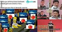 10 Meme Lucu 'Ikan Hiu Makan Tomat' Ini Anjim Banget Kocaknya