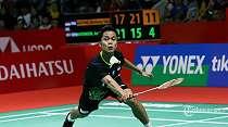 LIVE Streaming Perempat Final Thailand Open 2021, Ungkapan Ginting dan Shesar Usai Terhenti