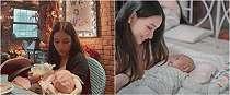 Jadi ibu baru, ini 8 momen Adzana Bing Slamet asuh bayinya