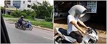 10 Momen lucu orang bawa sepeda motor ini bikin geleng kepala