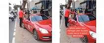 Viral penjual kopi yang berdagang pakai Mercedes-Benz
