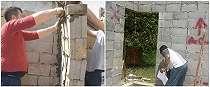8 Aksi tukang bangunan pasang batako bikin tepuk jidat