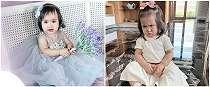 8& Pose ekspresif Sheena Gabriella anak Momo Geisha, gemas maksimal