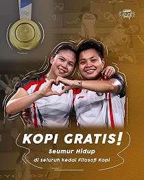 Greysia Polii dan Apriyani Rahayu Menangkan Medali Emas, Chicco Jerikho - Gilang Crazy Rich Beri Hadiah Fantastis.