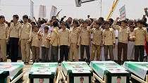 Ribuan Orang Hadiri Pemakaman Puluhan Bocah Korban Serangan Koalisi
