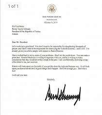 Presiden Erdogan 'membuang surat dari Presiden Trump ke tempat sampah'