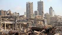 Kehancuran Setelah Ledakan di Beirut Lebanon dalam Rangkaian Foto