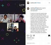Serius Tangani eSports Indonesia, Sandiaga Uno Ngobrol Bareng Reza Arap