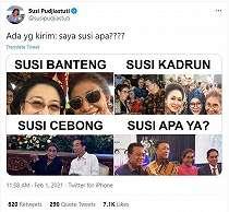 Susi Pudjiastuti Bagikan Deretan Meme, Netizen Auto Geger dan Terhibur
