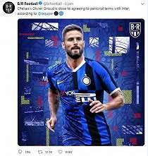 Olivier Giroud Jadi Striker Baru Inter Milan?
