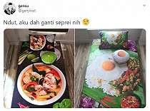 Viral Sprei Gambar Makanan, Bikin Netizen Lapar