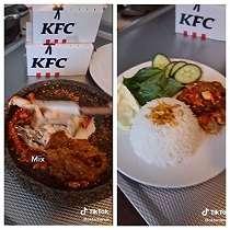 Rindu Kuliner Nusantara, Netizen di Belanda Ubah Ayam Krispi KFC Jadi Ini