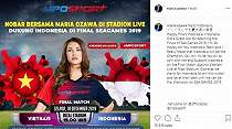 Maria Ozawa Doakan Timnas Indonesia U-22 Juara SEA Games 2019
