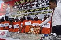 Polres Indramayu Buru Penadah Motor Curian Sampai Kalimantan