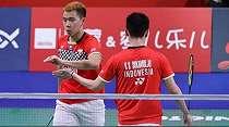 Kevin/Marcus Kewalahan Digempur Juara Dunia Junior di French Open