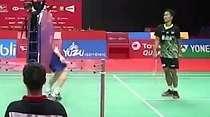 Momen Kocak Anthony Ginting Vs Antonsen di Indonesia Masters