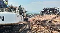 Tidak Melulu Perang, TNI Ikut Mencari Korban Bangunan Runtuh di Kongo