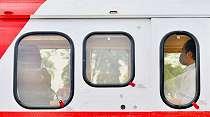 Helikopter Merah-Putih Temani Jokowi dan Prabowo di Kalteng