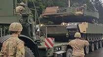 Pamer Kekuatan pada Rusia, Amerika Kirim Puluhan Tank ke Polandia